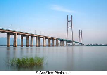 jiujiang yangtze river cable stayed bridge