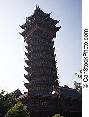 Jiutian Tower Pagoda Chengdu Sichuan China