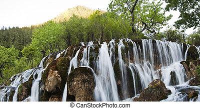 jiuzhaigou national park waterfall