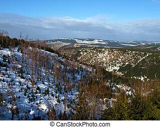 Jizera Mountains in winter