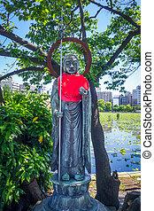 Jizo statue at Shinobazu pond in Ueno, Tokyo, Japan