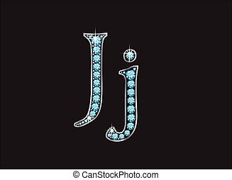 Jj Aquamarine Jeweled Font Jeweled