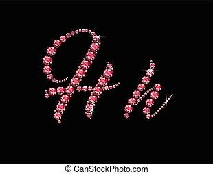 Jj Ruby Script Jeweled Font