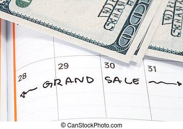 jmenování, jako, důležitý, prodej, pojem, podoba, o, jeden, kalendář