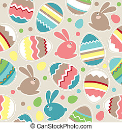 jml(125).jpg - Seamless spring pattern with easter eggs and...