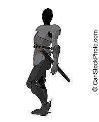 Joan of Arc Illustration Silhouette - Joan of Arc silhouette...