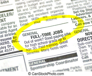 Job Ad - Job ad in the classified section of the paper