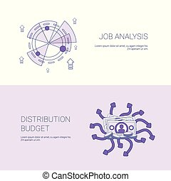 Job Analysis And Budget Distribution Concept Template Web Banner With Copy Space