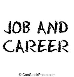 Job And Career stamp on white background