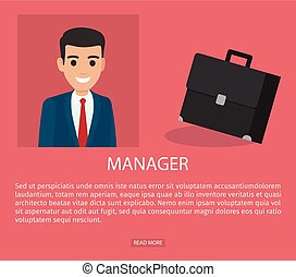 Job Application Form of Businessman. Brief Resume - Manager...