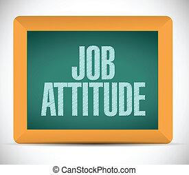 job attitude message on a board illustration