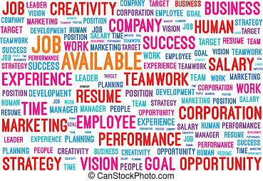 Job Available Word Cloud