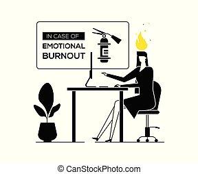 Job burnout - modern flat design style illustration