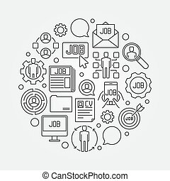 Job concept illustration