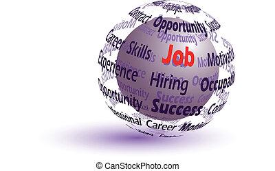 Job concept sphere