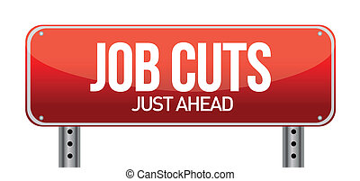 Job cuts illustration design over a white background