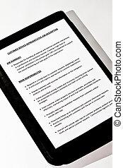 Job Description document on black leather case