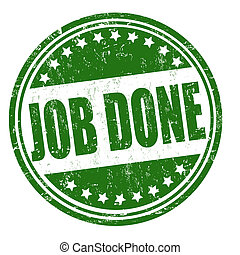 Job done stamp - Job done grunge rubber stamp on white,...