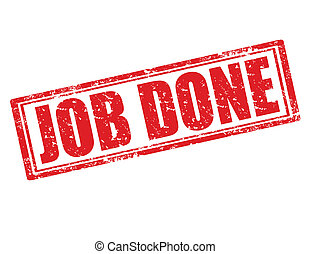 Job done-stamp