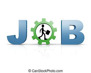 Job - computer generated 3d image - Job .