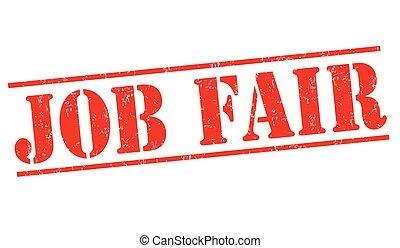 Job fair sign or stamp