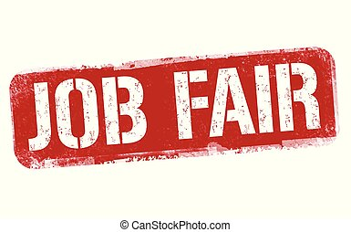 Job fair sign or stamp