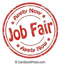 Job Fair-stamp - Grunge rubber stamp with text Job...