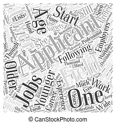 job for the overaged dlvy nicheblowercom Word Cloud Concept
