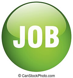 job green round gel isolated push button