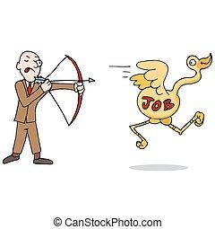Job Hunting Metaphor Icon