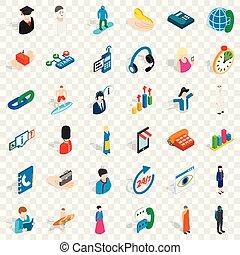 Job icons set, isometric style