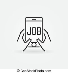 Job in smartphone icon