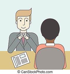 Job interview.