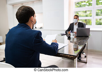 Job Interview Business Meeting At Law Office