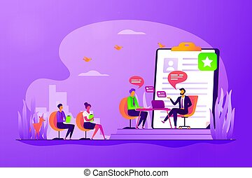 Job interview concept vector illustration