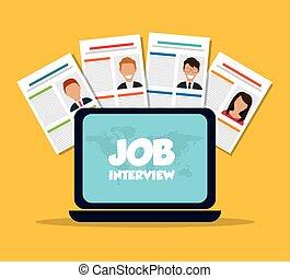 Job interview icon design