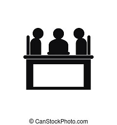 Job interview icon, simple style