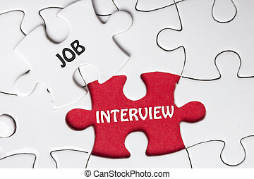 JOB Interview. Missing Piece Jigsaw Puzzle with word