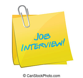 job interview post illustration design