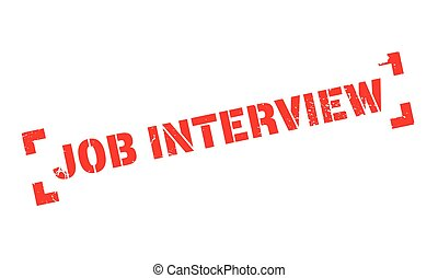 Job Interview rubber stamp