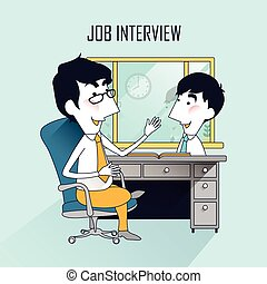 job interview scene