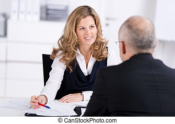Job interview - Personnel manager conducting a corporate job...