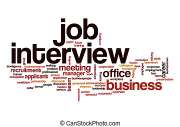 Job interview word cloud