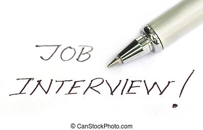 Job Interview written on a white paper