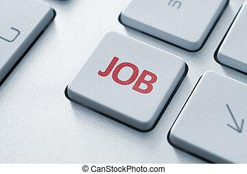 Job Key - Job button on the keyboard. Toned Image.