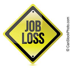 job loss sign illustration design over a white background