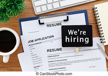 Job offer and recruitment