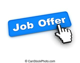 Job Offer Button with Hand Cursor