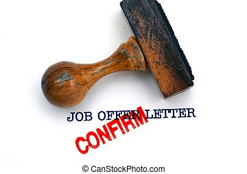 Job offer letter confirm