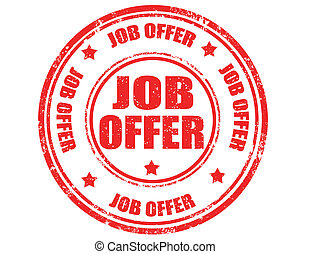 Job offer-stamp - Grunge rubber stamp with text job offer...